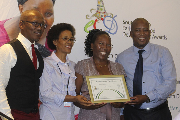 Thembakazi Matyeke with ECD award
